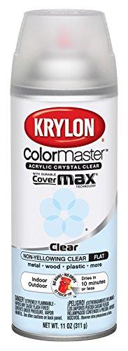 Krylon K05353007 ColorMaster Acrylic Crystal Clear, Flat, Clear, 11 oz.
