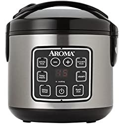 Aroma Housewares ARC-914SBD 8-Cup (Cooked) Digital Cool-Touch Rice Cooker and Food Steamer, Stainless Steel