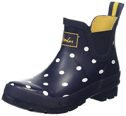 Joules Women's Wellibob Rain Boot, French Navy spot, 5 Medium US