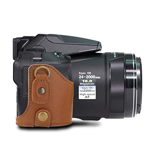 MegaGear-Nikon-Coolpix-P900S-Pu-Leather-Camera-Case-Light-Brown-MG956