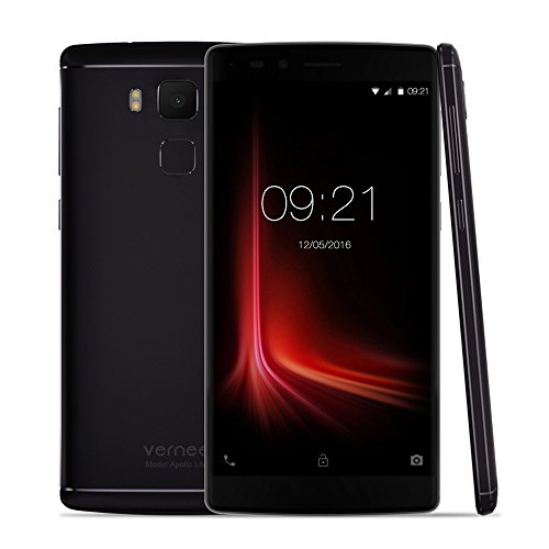 Vernee Apollo Lite Smartphone MTK6797 5.5 Inches 2.5D FHD 1920 * 1080 Pixels Screen Android 6.0 5MP+16MP Dual Cameras 4K Video 360 degree 0.1S Fingerprint ID 3.0 Fast Charge OTG Type C Dual-band WiFi