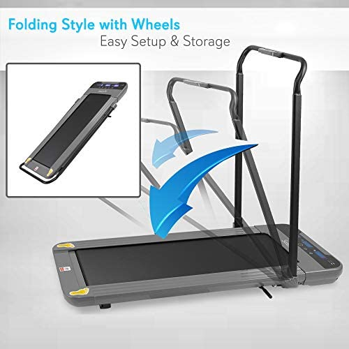 SereneLife Folding Digital Display Electric Treadmill – Fitness Training Cardio Equipment for Home Workouts, Jogging, Walking Exercise – Compact Minimal Profile Running Belt 5