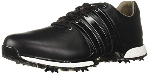 adidas Men's TOUR360 XT Golf Shoe, core Black/Silver Metallic, 10 M US