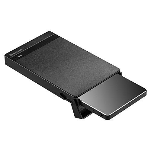 Salcar USB 3.0 Hard Disk Drive Enclosure for 2.5 Inch SATA HDD and SSD External Hard Drive Enclosure HDD Case Support UASP