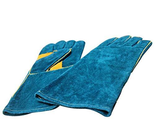 KIMLVGUO Calor Extremo y Guantes Resistentes al Fuego Cuero con la Costura de Kevlar, Perfecta para...