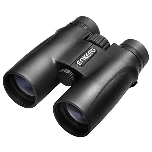 Enkeeo 10X42 Binocular Scope for Birdwatching, Camping, Sports Events, Concerts, Hunting, Surveillance, Black