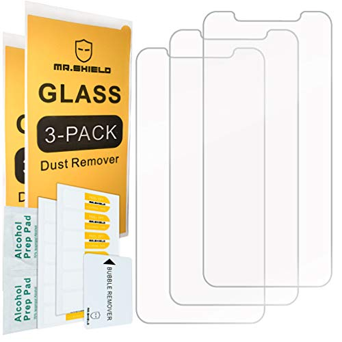 [3-Pack]-Mr.Shield for iPhone XR [Tempered Glass] Screen Protector with Lifetime Replacement Warranty