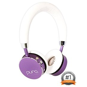 Puro Sound Labs BT2200 Kids Volume-Limiting Over-Ear Wireless Headphones (Purple)