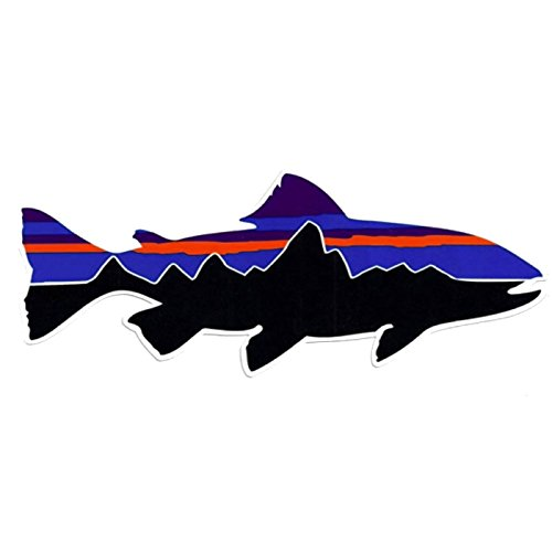 Patagonia Monte Fitz Roy Fish Perca Trucha (Percichthys trucha) - funny stickers travel adventure awaits wanderlust symbol window mountain motorcycle biker car - Made and shipped in USA (7x2)