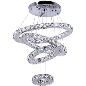 Dixun-Crystal-Chandeliers-Modern-LED-4-Rings-Pendant-Light-Adjustable-Stainless-Steel-Ceiling-Light-Fixture-for-Living-Room-Dining-Room-Bedroom-Cool-White