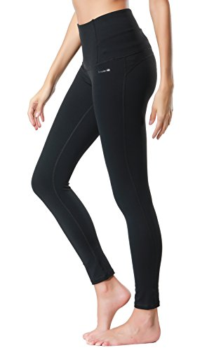 Dragon Fit Compression Yoga Pants Power Stretch Workout Leggings With High Waist Tummy Control, 02black, Large