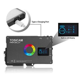 RGB-LED-Camera-Video-LightCRI-96-Dimmable-2400k-10000k-Mini-Pocket-Size-Video-Light-for-DSLR-Camera-Camcorder-Photo-LightingBuilt-in-Rechargeable-Battery