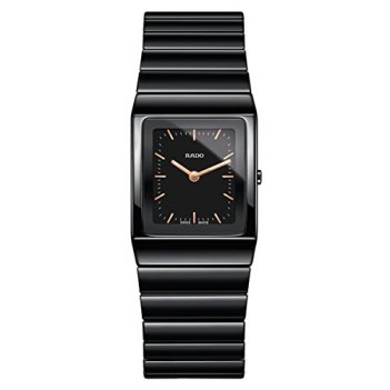 Rado Women's Ceramica Black Ceramic Case Sapphire Crystal Quartz Analog Watch R21702162