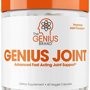 Genius Joint Pain Relief Supplement w/ Collagen & Turmeric for Knee and Back Health, Natural Strength Support for Aches…