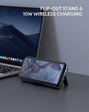 Wireless-Portable-Charger-20000mAh-AUKEY-USB-C-Power-Bank-PD-3018W-with-Foldable-Stand-Quick-Charge-30-Cell-Phone-External-Battery-Pack-for-iPhone-11-Pro-Max11XR-Samsung-iPad-Air