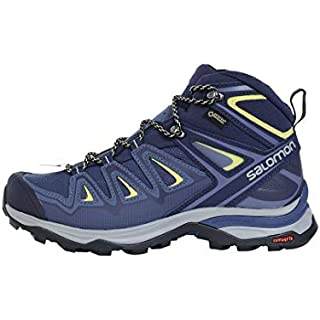 Salomon Women's X Ultra 3 MID GTX W Hiking, Crown Blue/Evening Blue/Sunny Lime, 6.5 Road Running Shoes On Trail]