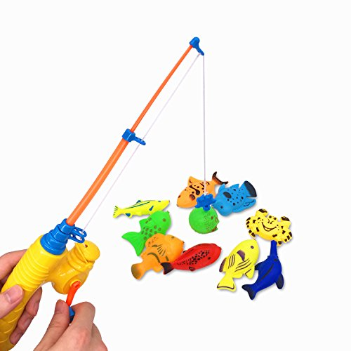Magnetic Toys For Boys : Bath toy piece magnetic fishing original color