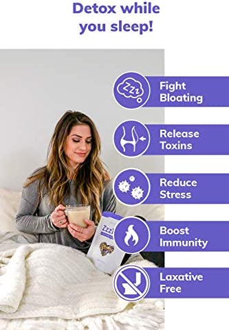 SkinnyFit ZzzTox Nighttime Detox Tea: Caffeine-Free, All-Natural, Laxative-Free, Chamomile, Lavender, Vegan, Supports Weight Loss, Helps Fight Toxins, Restful Sleep, Non-GMO, 28 Servings 3