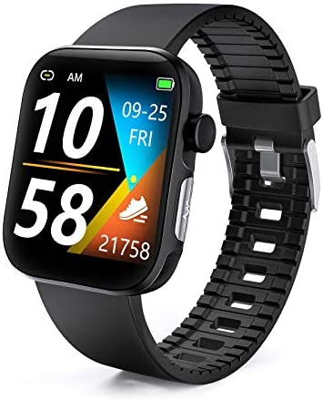 DFG Smart Watch HRV Activity Tracker Blood Oxygen Meter Heart Rate Blood Pressure Monitor Waterproof Fitness Tracker Watch with Sleep Monitor Smart Band Calories Pedometer for Women Men 1