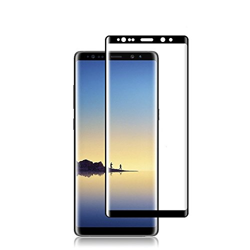 HD Galaxy Note 8 Screen Protector, Pueryin 3D Touch Coverage Anti-Scratch 9H Hardness Ultra HD Clear Tempered Glass Screen Protector Film for Samsung Galaxy Note 8(6.3') Black