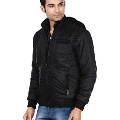 Ico Blue Stor Men's Polyester Full Sleeve Solid Jacket (Divider_Black_38) 21