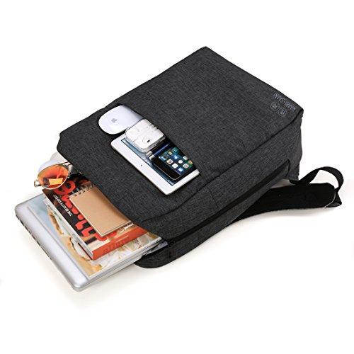 41ldj3FLpoL - WAABI-SAABI Polyester Grey Laptop Backpack