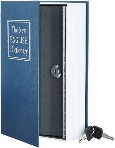 AmazonBasics Book Safe - Key Lock, Blue