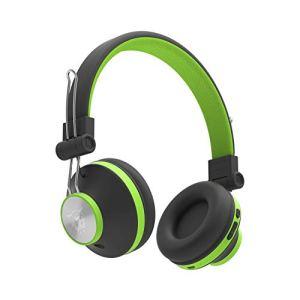 Ant Audio Treble H82 On-Ear Bluetooth Headphone with Mic (Black Green)