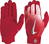 Nike Adult Huarache Elite Batting Gloves 2018 (Red/Red, Medium)