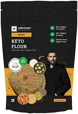 Ketofy Keto Flour (1Kg) | Healthiest Low Carb Keto Atta | 1g Net Carb Per Roti | Gluten Free | Ultra Low Glycemic