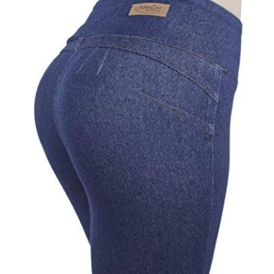 Denim bootcut yoga pants