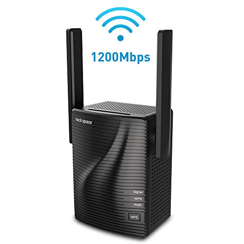 WiFi Extender- WiFi Range Extender Up to 1200Mbps, WiFi Signal Booster, 2.4 & 5GHz Dual Band WiFi Repeater with Access Ethernet Port, 360° Full Coverage, Easy Set-Up. (1200Mbps)