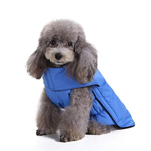 Scheppend Dog Jackets for Winter Windproof Waterproof Cozy Dog Coat for Cold Weather Warm Apparel Clothes Puppy Dog Vest for Small Medium Large Dogs (XXX-Large, Blue)