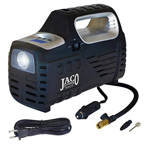 JACO SmartPro 2.0 AC/DC Digital Tire Inflator Pump - Advanced 12V Portable Air Compressor - 100 PSI