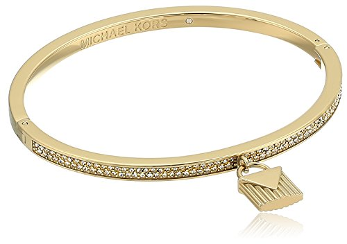 Michael Kors 'Fashion Logo Love Gold-Tone Hinged Padlock Charm Bracelet