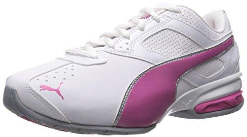 PUMA Women's Tazon 6 WN's fm Cross-Trainer Shoe White/Fuchsia Purple/Silver 8.5 M US
