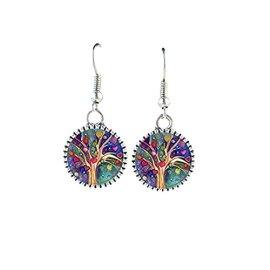 1fbb73be6 fashion jewelry wisdom life tree drop earrings silver plated tree dangle  Charms Earring