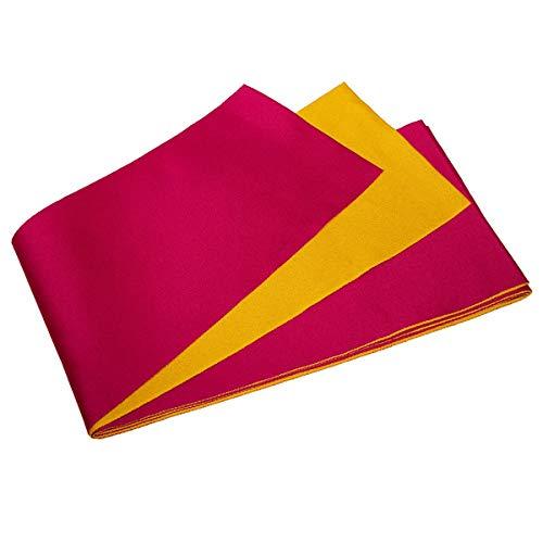 KYOETSU Women's Obi Belt for Yukata Kimono Plain Reversible (Cherry/yellow)