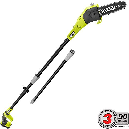 Ryobi ONE+ 8 in. 18-Volt Lithium-Ion Cordless Pole Saw - 1.3 Ah Battery and Charger Included