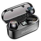ZEAKOC True Wireless Earbuds TWS Stereo Bluetooth 5.0 Headphones with Qualcomm CSR APTX Chipset CVC8.0 Noise Cancelling in-Ear Earphone IPX5 Waterproof 40H Playtime Sports Earpiece with Charging Case