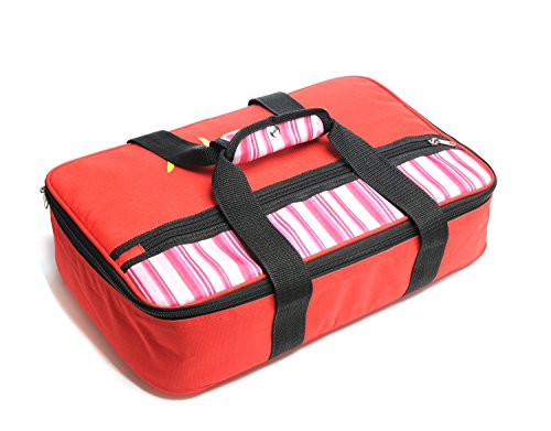 Insulated Casserole Carrier - Hot & Cold Food Keeper- 16.5 x 4.2 x 10.5 inches -  600D Polyester and 10mm EPE Foam with Aluminum Coating