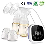 Smibie Dual Motor Double Electric Breast Pump for Efficient Breast Pumping - Portable Breast Pumps with 4 Phase Expression Mode and 18 Adjustable Suction Power, 100V-240V
