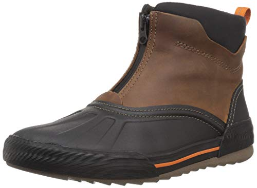CLARKS Men's Bowman Top Ankle Boot, Dark tan Leather, 100 M US
