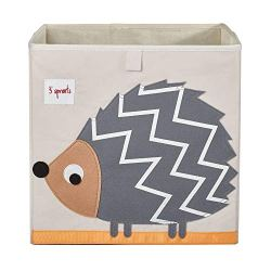 3 Sprouts Cube Storage Box – Organizer Container for Kids & Toddlers, Hedgehog