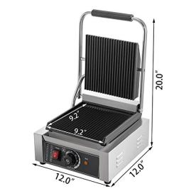 Happybuy-110V-Commercial-Sandwich-Press-Grill-1800W-Electric-Panini-Maker-Non-Stick-122F-572F-Temp-Control-Full-Grooved-Plates-for-Hamburgers-Steaks-Professional-Cooking-Equipment