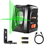 Lomvum Self-Leveling Laser Level 100FT Green Vertical Horizontal Cross Line Laser Level -visible in sunshine, DIY line Laser Portable min Outdoor Laser Leveler