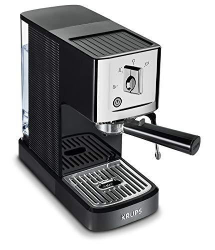 KRUPS XP344C51 Professional Coffee Maker Calvi Steam and Pump Compact Espresso Machine, 1-Liter, Black