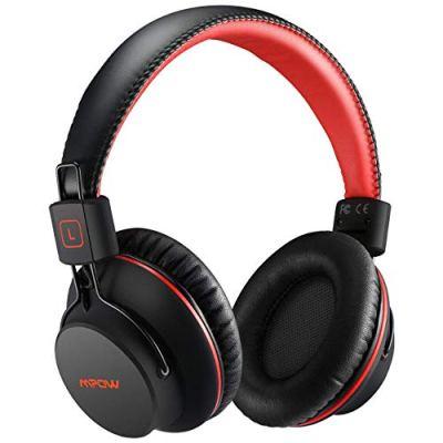 Mpow H1 Cuffie Bluetooth, Cuffie Bluetooth CSR Over-Ear 4.1, Autonomia 20 Ore, Cuffie Bluetooth Pieghevole Ergonomico Con Microfono, Riduzione di Rumore, Auricolari Bluetooth Per Smartphone e PC-Rosso