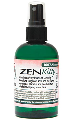 Zen Kitty - an Aromatic Feline Calming Blend of Pure Hydrosols and Flower Essences (4 oz)