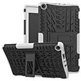 Christmas Best Kindle Accessory!!Kacowpper for Amazon Kindle Fire HD 8 2017/2018 Hybrid Rubber Stand Case Cover